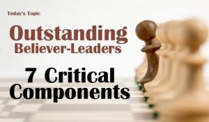 Becoming Outstanding Believer-Leaders