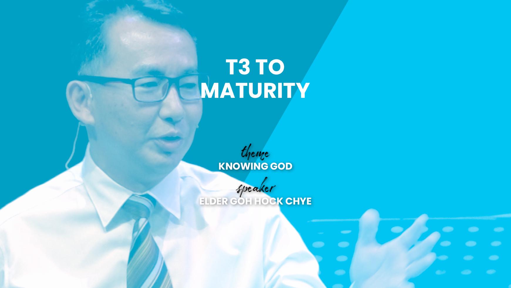 T3 to Maturity