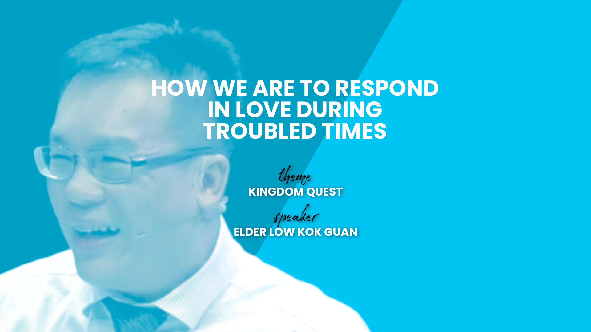 How We Are To Respond In Love During Troubled Times