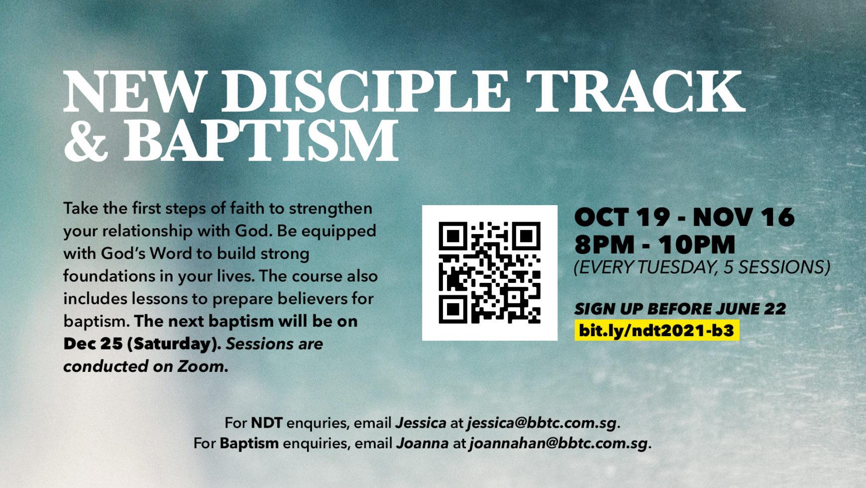 New Discipleship Track/ Baptism